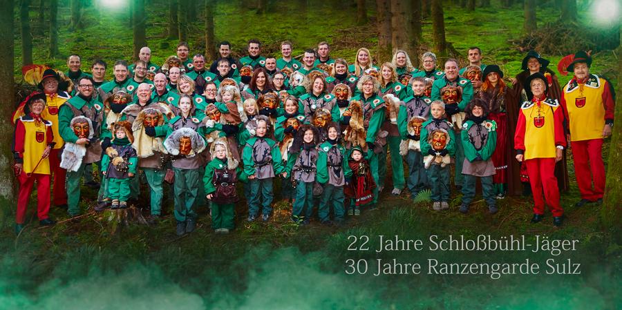 Jubiläumsumzug der Schloßbühl-Jäger & Ranzengarde Sulz e.V.